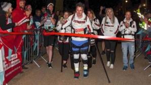 Парализиран мъж завърши Лондонския маратон ходом за 36 часа