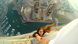 Когато бившата на Алонсо увисна от 306 метра височина (снимки + видео)