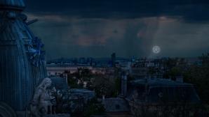 Логото на Шампионска лига светна в небето над София