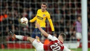 """Арсенал - Атлетико 0:0, """"дюшекчиите"""" останаха с 10 на терена, гледайте тук"""