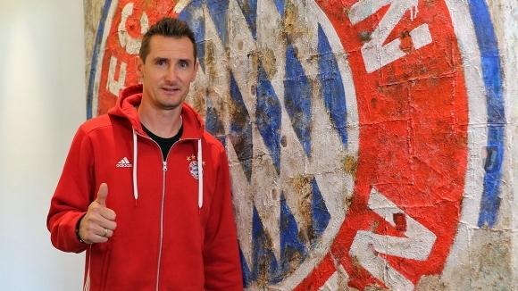 Клозе се завръща в Байерн като треньор