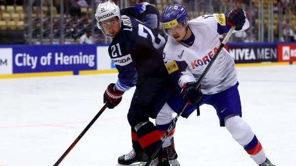 САЩ разгроми Южна Корея на Световното първенство по хокей на лед