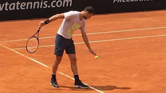 Григор Димитров тренира с потенциален съперник в Рим (снимки + видео)