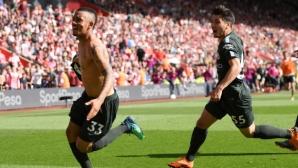 Шампионите достигнаха границата от 100 точки след гол в 94-тата минута (видео)