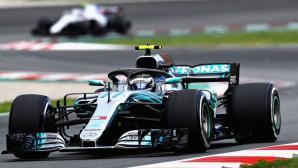 Ботас най-бърз във втория тест в Барселона