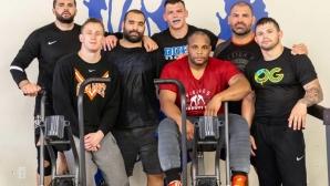 Багата тренира с Кейн Веласкес и Даниел Кормие