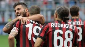 """""""Червено-черен"""" ураган отнесе Фиорентина! Милан в групите на Лига Европа"""