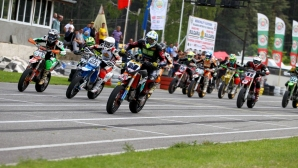 Изключителен ден на Европейския шампионат по СуперМото в Кюстендил