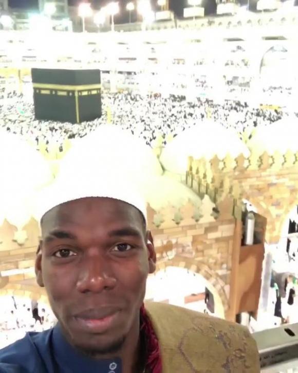 Пол Погба на поклонение в Мека