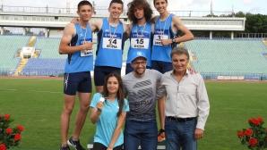 Щафетата на Академик-София подобри 32-годишен рекорд на 4 по 100 м