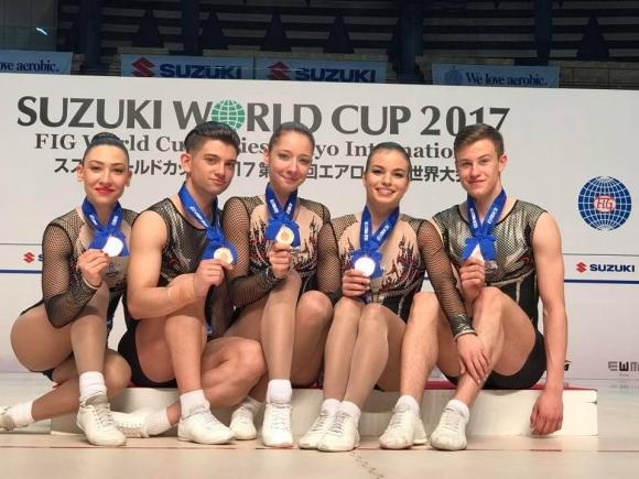 Шесто и седмо място за българките на световното първенство по спортна аеробика