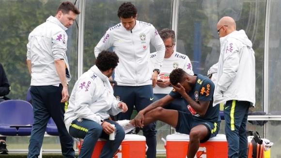 Новото попълнение на Ман Юнайтед се контузи на тренировка на Бразилия