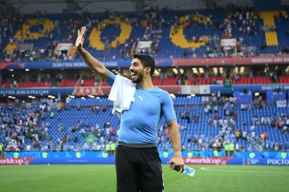 Суарес е играч на мача Уругвай - Саудитска Арабия