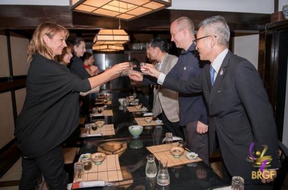 Най-високопоставените мъже на Мураяма дадоха официална вечеря в чест на българския национален отбор по художествена гимнастика