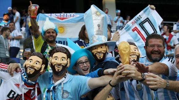Още грозни сцени: Фенка на Аржентина наби бразилец (видео)