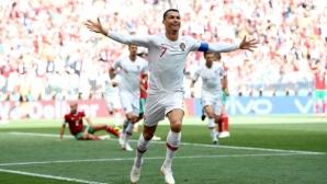 С нов гол и нов рекорд Кристиано Роналдо донесе изстрадана първа победа на Португалия (видео)