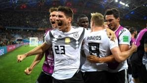 Властелинът Германия се измъкна от пепелта срещу Швеция (видео + галерия)