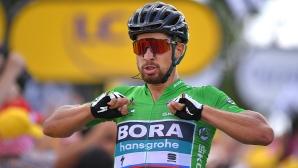 """Петър Саган взе втора етапна победа в """"Тур дьо Франс"""""""