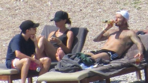 Семейство Бекъм се наслаждава на мечтана ваканция (снимки)