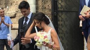 Красивата Силвия Зубева се венча за национала Тодор Скримов (снимки)