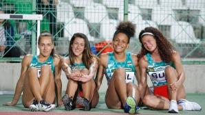 Трето място за женската ни щафета на 4 по 100 м на Балканиадата