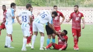ЦСКА-София опитва да ограничи щетите от мелето в Рига, обърна се към УЕФА