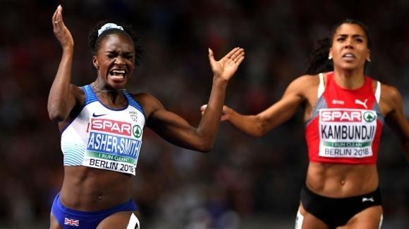Реактивна Ашър-Смит спечели европейската титла на 100 м и изравни рекорд на Нунева
