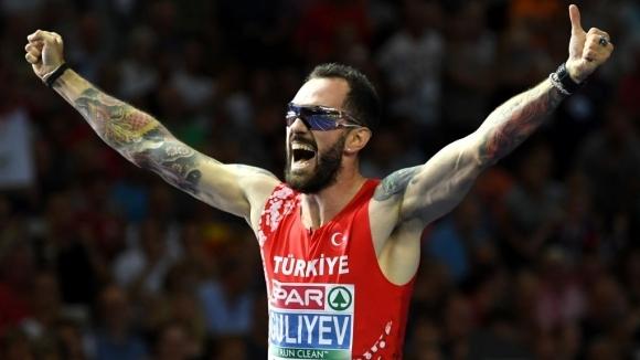 Смазващо превъзходство на Гулиев за европейското злато на 200 м