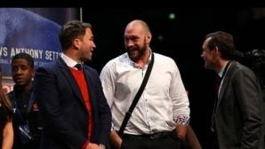 Тайсън Фюри: Чудесно е, че Еди Хърн няма нищо общо с битката ми с Уайлдър (видео)