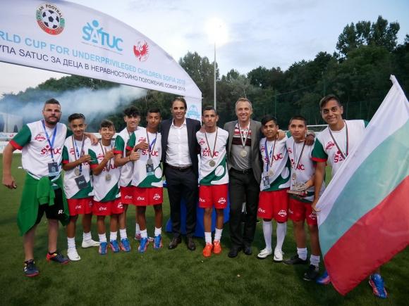 България трета на Световната купа по футбол за деца в неравностойно положение