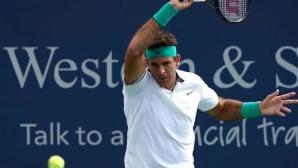 Хуан Мартин дел Потро доминиращ в първия си мач като №3 в света