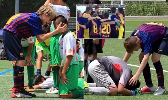 Браво на тези малки футболисти на Барселона! (видео)