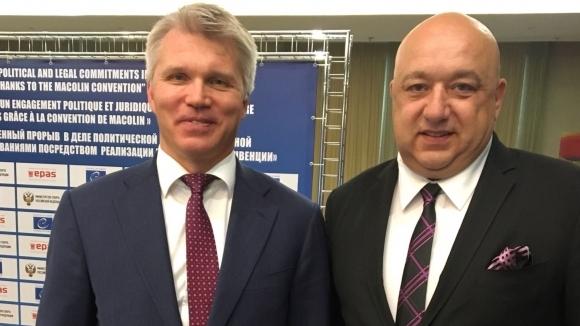 Руският спортен министър идва в България по покана на Красен Кралев