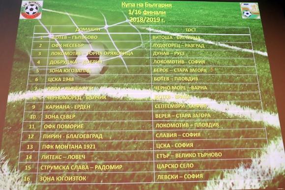 Обявиха датите и часовете на мачовете за Купата на Левски, Лудогорец, Славия, Ботев Пд и двете ЦСКА
