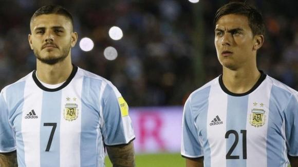 Икарди и Дибала повеждат атаката на Аржентина срещу Колумбия