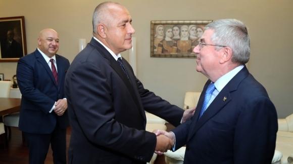 Премиерът Бойко Борисов се срещна с президента на МОК Томас Бах