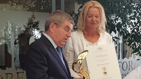 Стефка Костадинова получи Трофея на президента на МОК
