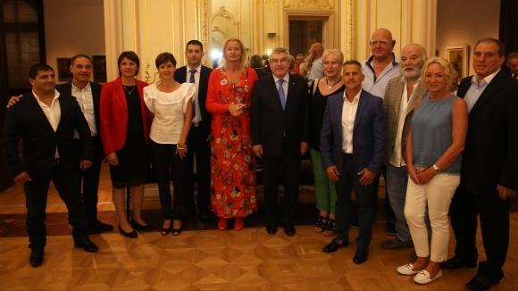 Томас Бах се срещна с родни олимпийски медалисти, Мария Гроздева с прочувствена реч