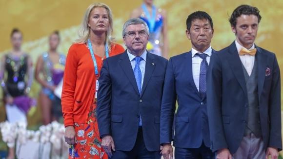 Президентът на ФИГ даде официална вечеря в чест на Томас Бах