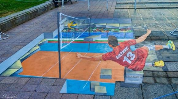 Волейболно изкуство в Русе (видео + снимки)