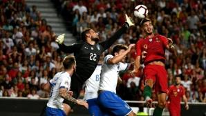 Италия продължава да буксува след загуба от еврошампиона (видео)