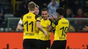 Алкасер дебютира в Дортмунд с гол, но и с контузия