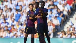 Барселона измъкна едно от най-тежките си гостувания след обрат (видео+галерия)