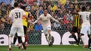Блестящ Де Хеа осигури трите точки на Юнайтед (видео)