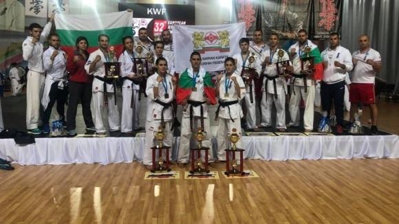 Националният отбор по киокушин спечели 3 шампионски титли и общо 9 медала от Европейското първенство