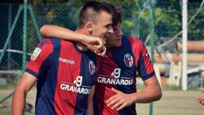 Калоян Кръстев започна с гол сезона в Болоня, вече тренира главно с първия отбор