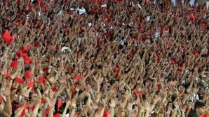 Феновете на ЦСКА-София с организирано шествие по улиците на Монтана