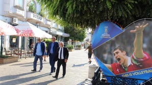 Александър Боричич впечатлен от волейболния град Русе