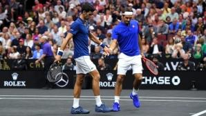 Звездният дует Федерер и Джокович загуби битката с Андерсън и Сок