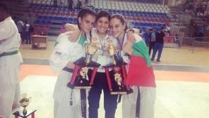 Титла и общо 11 медала от Европейското по карате киокушин